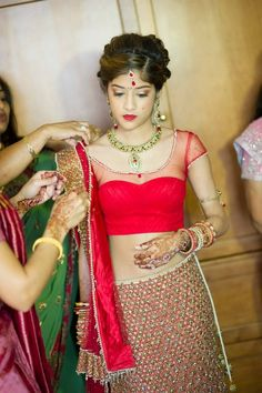 Gorgeous Indian bride- She's a lovely person, inside and out:)