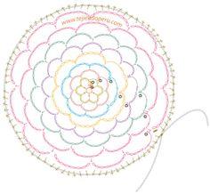 sujetador de cabello en crochet - diagrama