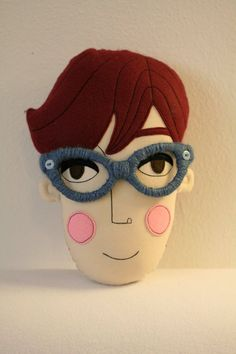 pillow face  ZITA  RESERVED for Robyn by pollaz on Etsy