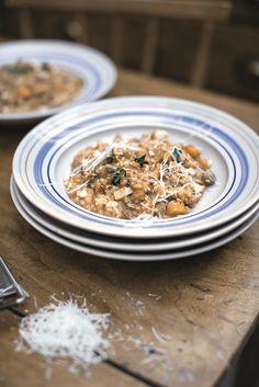 Squash & Sausage Risotto, Radicchio, Thyme & Parmesan ⓒ Jamie Oliver Enterprises Limited (2016 Super Food Family Classics) Photographer: Jamie Oliver