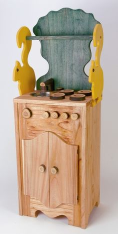 Squirrel themed play stove! So cute.