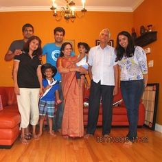 With veena and family