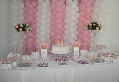 baby shower ideas for girls | Next to your main table, place a side table with porcelain dishes ...