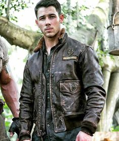 Perfect in all the ways, Jumanji 2 Nick Jonas Leather Jacket made with real leather and distressed shades now get it at New American Jackets. Nick Jonas, Brown Leather Bomber Jacket, Bomber Jacket Men, Leather Jackets, Bomber Coat, Leather Coats, Brown Jacket, Hoodie Jacket, Motorcycle Jacket