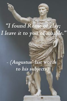 caesar augustus known as the greatest ruler of rome The six greatest roman vespasianus made history as the first emperor not descended from the augustus's julio vespasian was also known for his sense of.