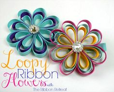 Loopy Ribbon Flowers - The Ribbon Retreat Blog
