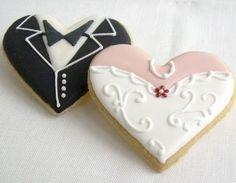 Hochzeitskeks Brautpaar Herzen
