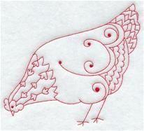 Country Hen V (Redwork)