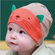 212a35022b7 baby caps cute cat ear design baby beanie kids hats
