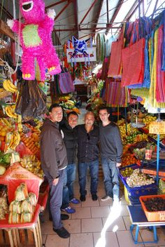 Four talented Rosewood Chefs together at the mercado in San Miguel de Allende, Mexico.