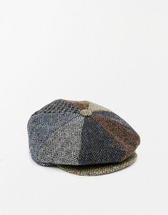 ASOS Baker Boy Hat in Harris Tweed Baker Boy 86acabcfa081