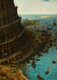 The Tower of Babel - Pieter Bruegel the Elder. Detail.