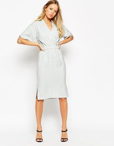 ASOS Kimono Dress with Elasticated Waist