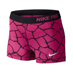 Women's Nike 3 Inch Pro Core Giraffe Print Compression Shorts ($25) ❤ liked on Polyvore featuring activewear, activewear shorts, shorts, athletic, nike, athletic sportswear, nike sportswear and nike activewear