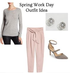 Update your work day style this spring with blush and grey. Click through for all the details of this outfit and PIN as inspiration!