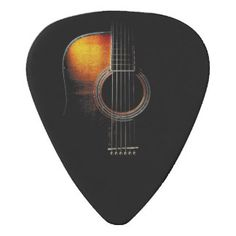 Acoustic Guitar Design Plectrum Version 4 Guitar Pick