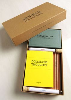 Idea for brandbook add: - boekenlegger - businesscard in reageerbuisje