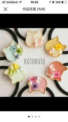 Diy Hair Accessories, Handmade Accessories, Handmade Jewelry, Uv Resin, Resin Art, Resin Jewelry, Jewelry Crafts, Japanese Gifts, Kawaii Jewelry