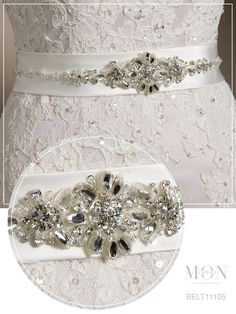BELT11105 Wedding Dress BeltsSatin