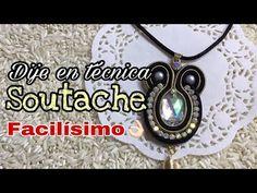 Cómo elaborar un dije en técnica Soutache/principiantes - YouTube Shibori, Washer Necklace, Pendant Necklace, Soutache Jewelry, Wire Wrapped Jewelry, Wire Wrapping, Youtube, Jewels, Beads