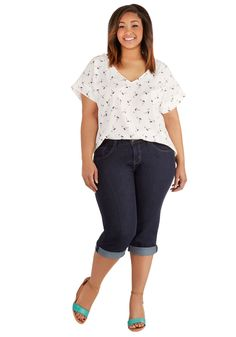 421243fd87cb3 Sandcastle Stylist Capris in Dark Wash - Plus Size. Youre renowned on the  coast for