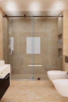Sliding Shower Doors: A Trendy Look for Your Bathroom Shower Sliding Glass Door, Smooth Lines, Bathtub, Bathroom, Decorating, Beautiful, Home Decor, Standing Bath, Washroom