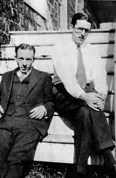 Authors E.B. White and James Thurber