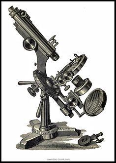 Rotating Microscope Clipart,Antique Microscope Clipart Microscope ...