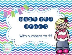 Work on place value with this fun scoot game. Place the cards around the room. Students go from card to card reading and recording the value of the base ten blocks on their recording sheet. Can also be played as a write the room or cards can be placed in a sensory box or center.