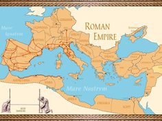 A map of the Ancient Roman empire. Ancient Rome, Ancient History, Ancient Aliens, Ancient Greece, Roman Empire Map, World Empire, Ap World History, European History, American History