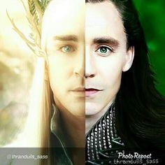 GAHHH!!!! #Thranduil - #Loki mashup. <----- that is pretty epic