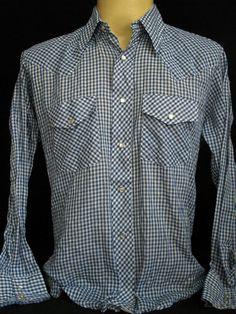 VTG 1980s Stir UPS Western Wear MEN Shirt