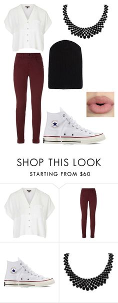 """""""One Thing"""" by forever-young114 ❤ liked on Polyvore featuring Topshop, J Brand, Converse, LOGO by Lori Goldstein, The Elder Statesman, Sephora Collection, women's clothing, women, female and woman"""