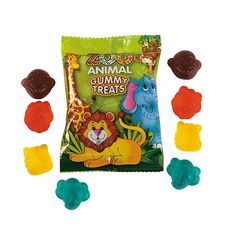 Zoo Animal Gummy Candy Packs - OrientalTrading.com