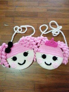 """Lalaloopsy Crumbs & Jewels"" Handmade crochet purses in various designs  Each pu... -  #"