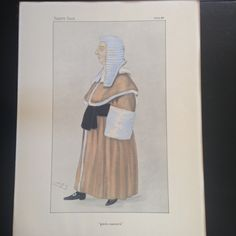 """Justice Sir Ford North """"Gentle Manners"""" Caricature by Spy, 1887/Vintage 1800s print/Gentle Manners/Ford North/SPY Caricaturist by PhilomenasCloset on Etsy"""