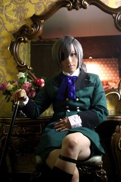 Ciel Phantomhive cosplay.  this is a really good cosplay