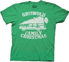 Amazon.com: Christmas Vacation Green Griswold Family Christmas GREEN Adult T-shirt Tee: Clothing