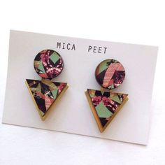 Statement Triangle Geometric earrings by Mica Peet