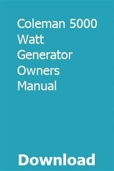 coleman coleman generator wiring diagram on coleman powermate 5000 generator  diagram, coleman 5000 generator manual,