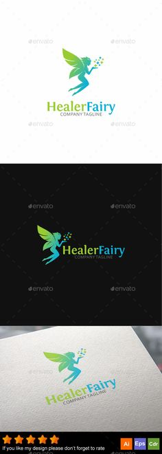 Healer Fairy Logo Template Vector EPS, AI Illustrator, CorelDRAW CDR