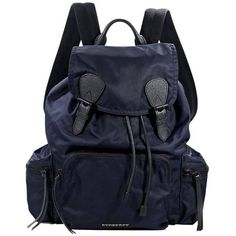 Preowned Burberry Navy Blue And Black Nylon Backpack (3.180 BRL) ❤ liked on Polyvore featuring bags, backpacks, blue, drawstring backpack, navy blue backpack, blue drawstring backpack, burberry and drawstring bags