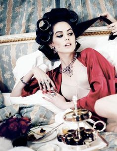 mornings are just so difficult, first there is breakfast in bed, then a hairdressers and makeup artists, the stylists, she thinks to herself - it's so hard being me