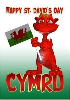 David's Day Card - Welsh Dragon Welsh Flag created by moonlake. Cardiff Wales, Wales Uk, South Wales, Welsh Sayings, Great Britan, Wales Rugby, Saint David's Day, Welsh Dragon, Monkey Art