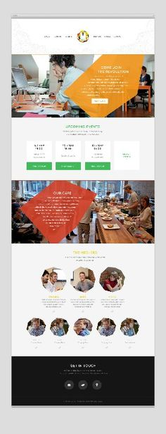 #Webdesign for #events website 83oranges.com