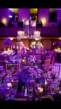 Purple lovers wedding