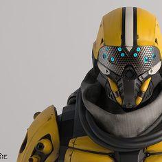 Sci-Fi, Cyberpunk, Futuristic, Armor, Helmet, Android, Humanoid