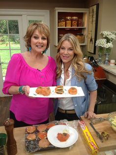Tune in to see me on #HomeandFamily on the Hallmark Channel @CristinaFerrare and I making SMOKED SALMON EGG SALAD Savory Bites.