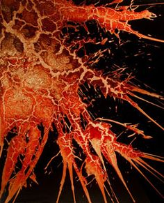 Jordan Eagles spatter paintings   contemporary works created with blood + copper on plexiglass Blood Art, Personal Investigation, Contemporary Paintings, Plexus Products, Eagles, Jordans, Death, Copper, Artsy
