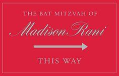 Travel Bat Mitzvah directional sign www.dkkevents.com